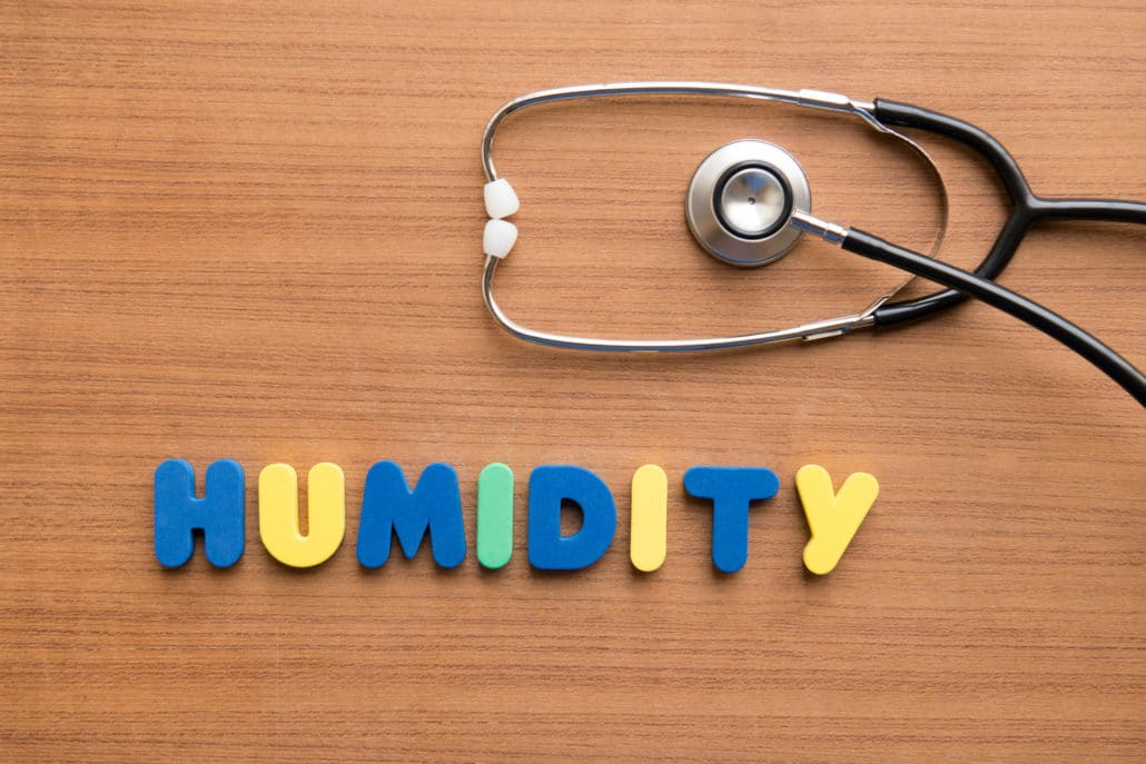 Relative humidity and air health
