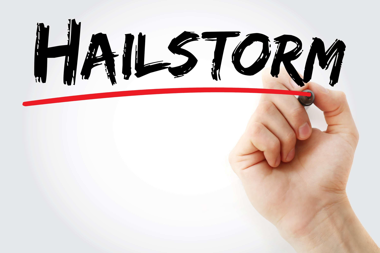 hail hits an HVAC system